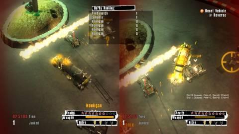 Scrap Metal features up to 4-player  splitscreen.