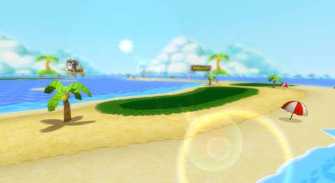 Shy Guy Beach as it returns in Mario Kart Wii.