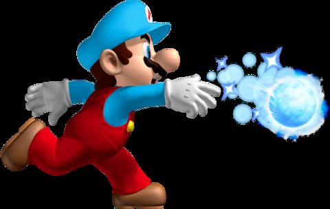 Ice Mario as seen in New Super Mario Bros. Wii.