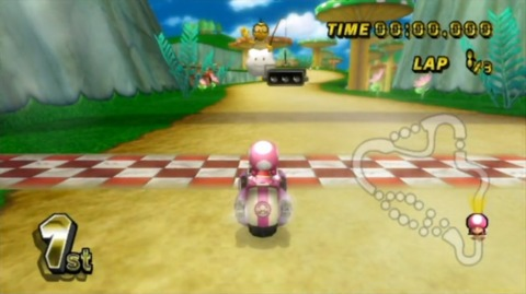 Toadette is ready to go as the countdown to the GP race is about to begin.