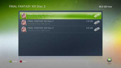 3-Disc Layout on Xbox360