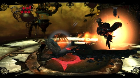 The combat is fun and simple and plays like Darksiders in a way.