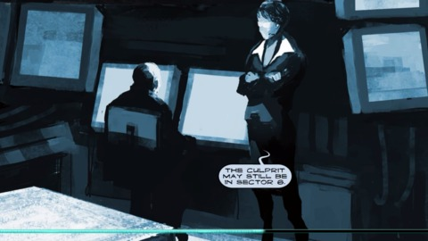 Motion comics are used to deliver the plot.