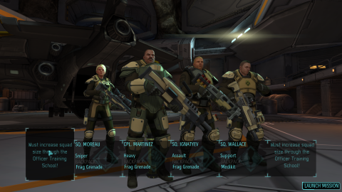 A squad consisting of soldiers from each class.