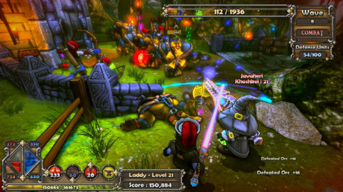 Dungeon Defenders features vibrant colors and awesome Tower Defense Gameplay