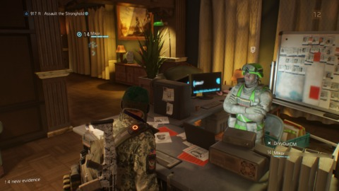 Each safehouse has a poorly written character who will talk at you when you take on a side mission in his or her district.