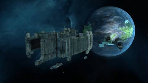 Rebellion introduces Titan-class warships, which dwarf every other unit