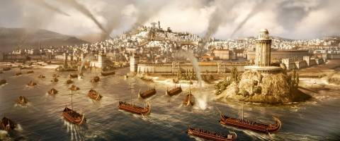 In a series first, naval and land battles can occur continuously on the same battle map.
