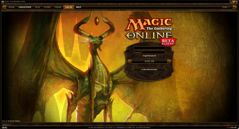 The new Login screen. Themes are set-specific.