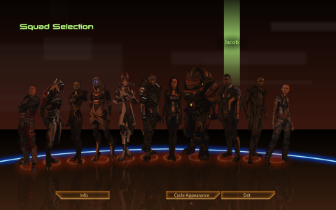 My squad looked a little bit different after the end of Mass Effect 2. A tiny bit more red.