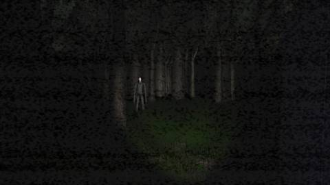This is not a position you want to be in while playing Slender. It's time to look away, and run.