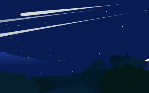 I captured this meteor shower on my second time through. It never happened the first time. Some stuff is truly random.