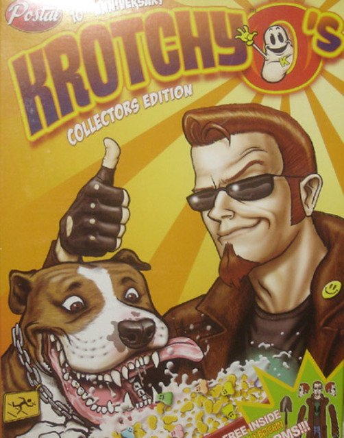 10th Anniversary Collector's box, featuring the fictional KrotchyO's cereal.