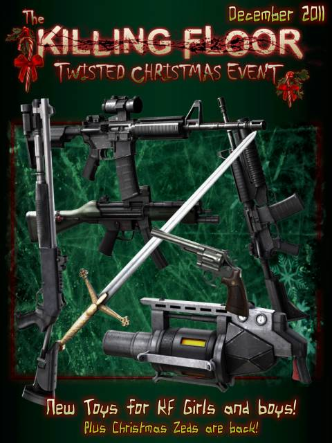 Weapons from the Twisted Christmas Event