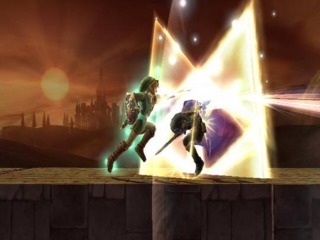 Link using his Final Smash in Super Smash Bros. Brawl.
