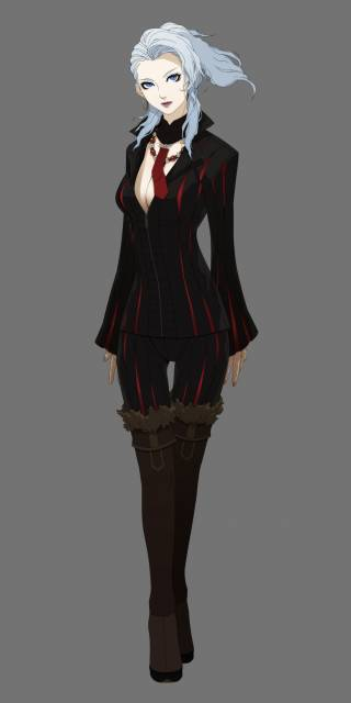 Naomi Kimishima, the only playable character from a previous game, received some changes to her design.