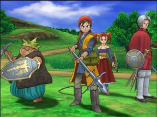 The central protagonists of Dragon Quest VIII.