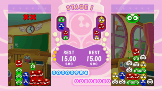 Puyos must be aligned four-in-a-row of a single color.