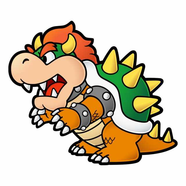 Paper Bowser from the Paper Mario series