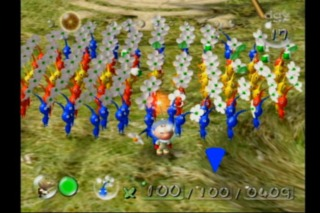Olimar and his Pikmin army