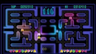 Pac-Man CE's wide-screen maze