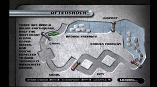 Aftershock course layout