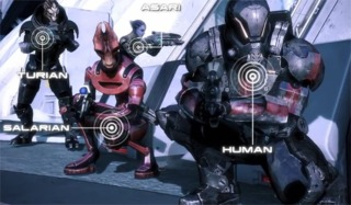 Four of the playable races in the Galaxy At War mode.