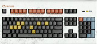 Keyboard texture from Portal