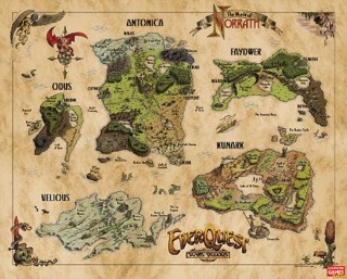Norrath in the Age of Turmoil (not to scale)