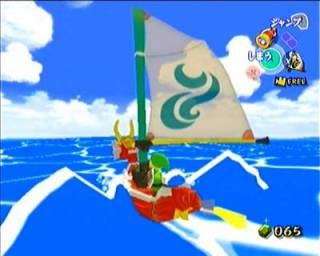 This game takes place entirely on an ocean overworld.
