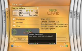 The old Xbox 360 Dashboard