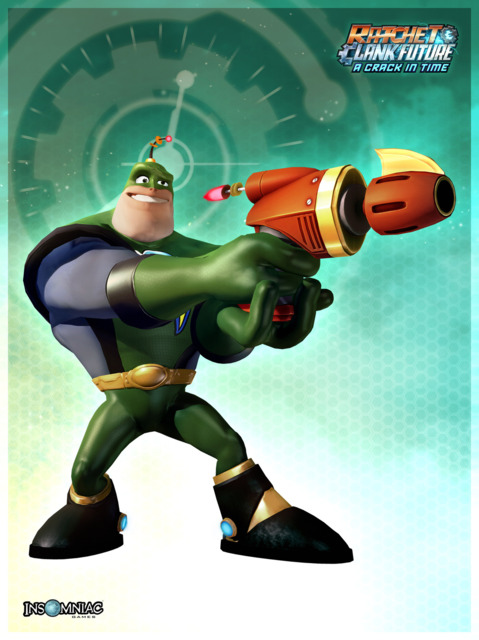 A render of Qwark from A Crack In Time