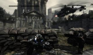 The iconic cover-system for Gears of War in effect