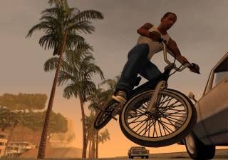 The bicycle is one of the new vehicles in San Andreas.