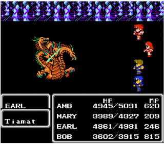 Battle from the Famicom version.