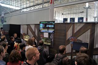PAX East 2013 attendees lining up to play Divekick