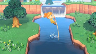 Villagers can now use a new vaulting pole to hop across rivers.