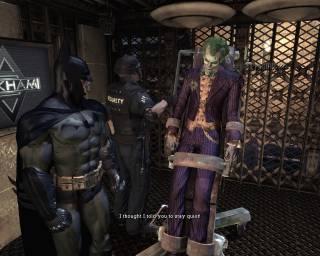 The Joker being captured.