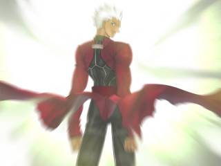 Archer in Shirou's vision