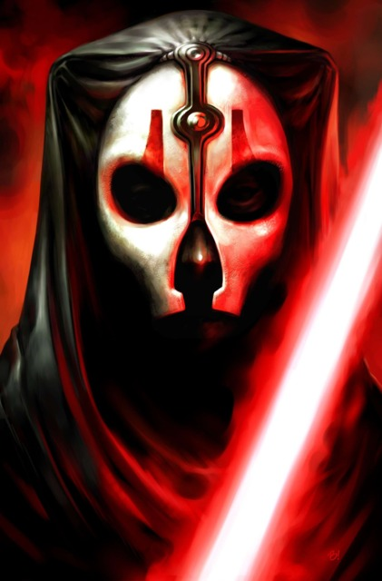 Darth Nihilus, one of the antagonistic Sith Lords of the game