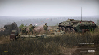 A small Russian FOB and APC.