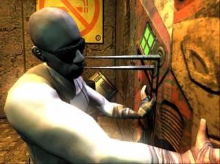 Riddick healing himself.