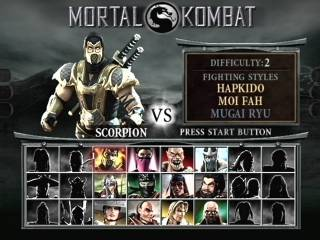 The character select screen with the 12 starting characters.