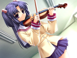 Kotomi playing the violin for the first time in 10 years