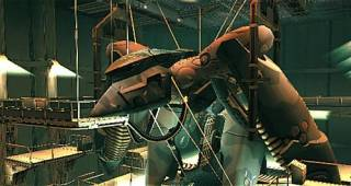 Metal Gear RAY docked in U.S.S. Discovery in MGS2.