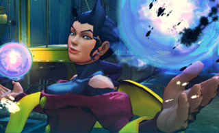 Rose's win pose in the Street Fighter IV series