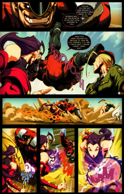Rose, Cammy and M.Bison in UDON Street Fighter comics