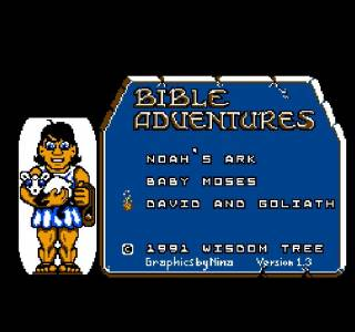 The Bible Adventures title screen.