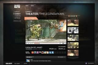 Early screenshot of Call Of Duty Elite