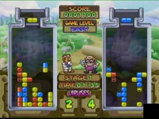 Dr. Mario 64 plays similarly to other games in the Dr. Mario franchise.